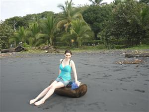 Coconut Palm Fringed Black Sand Beaches Tasty Food And Friendly Locals By This Time Nic Had Begun To Settle In Costa Rican Life Just Fine