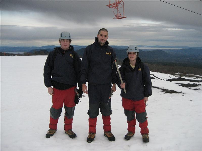 The three amigos about to climb Volcano Villaricca