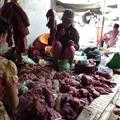 Battambang - Butchers at market