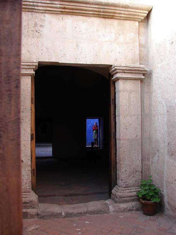 Through the key-hole, Monasterio Santa Catalina
