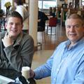 Dad & I at Heathrow Airport