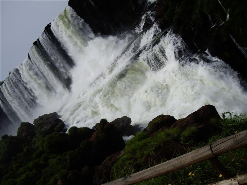 Iguazu falls, island view