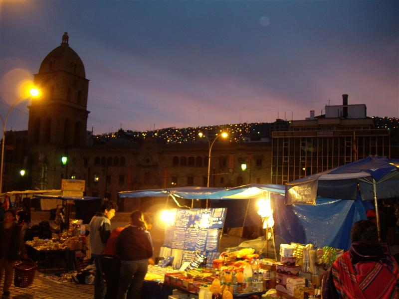 Night time markets at La Paz