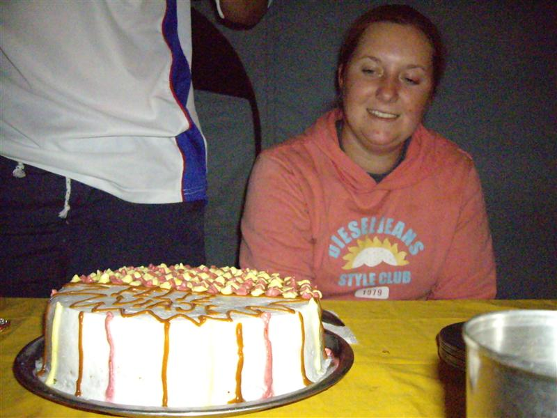 3rd Day, our special cake...in the middle of the Andes