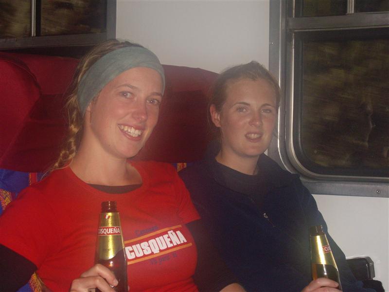 The train back from Machu Picchu..con cervezas