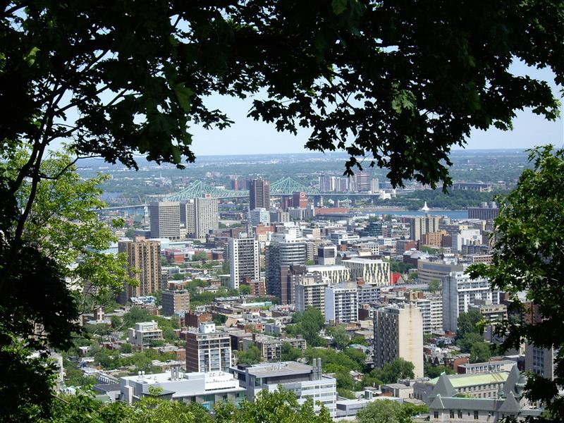 The view from Mont Royal