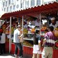 The fruit smoothie stalls in the markets