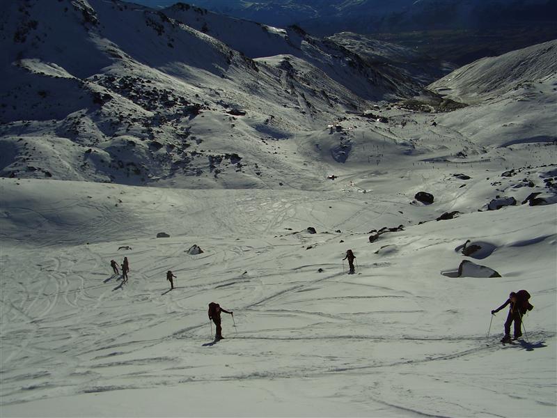 Walking up that damn hill - in skiis. Funtastic!