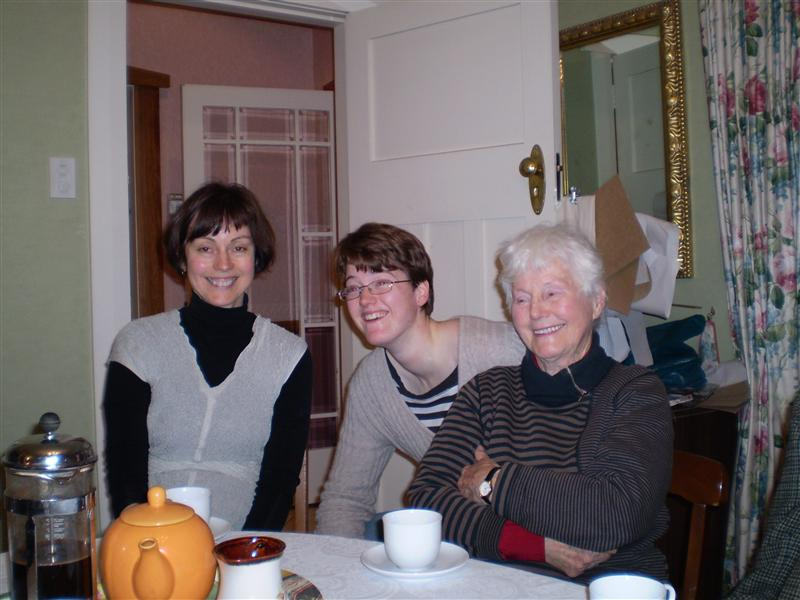 Dinner Party before I leave. Mum, Me and Nana ('Hon')