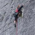 Helen Climbing at Extauri climbing area