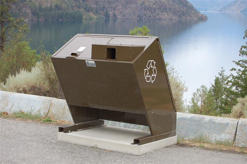 Bear-proof bins, Seton Lake