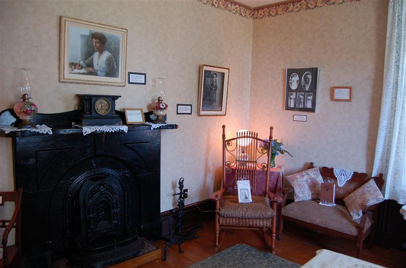 LM Montgomery was married in this room