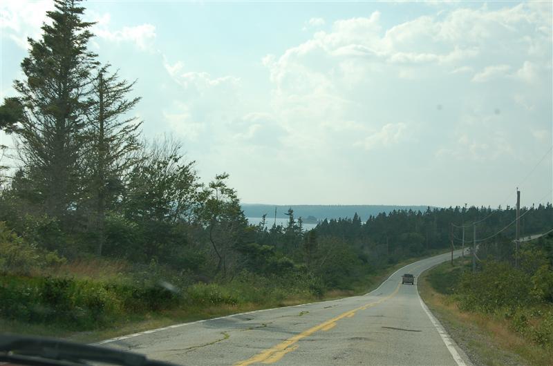 Poor road on east coastal drive