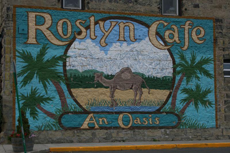 Side Wall of Roslyn Cafe in Roslyn, WA