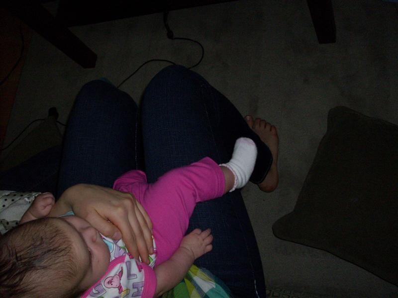 Sofia on my lap