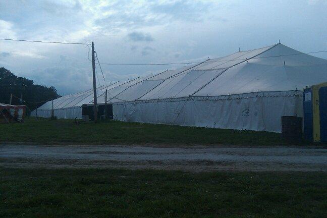 Massive Merch Tent at Cornerstone 2010