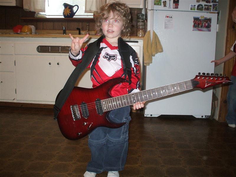 Malachi being a rockstar!