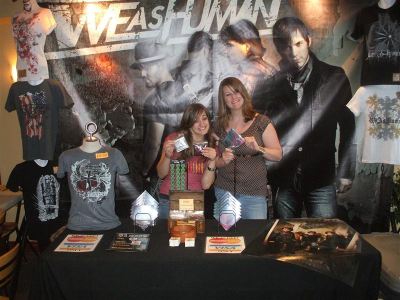 The merch ladies! (Kelly and Josie)