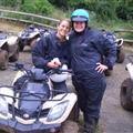 Agathe and I with the 4- Wheelers .... we even wore helmets!