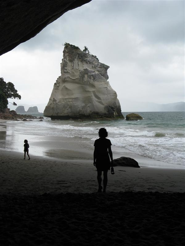 In the cave at Cathedral Cove- near Hahei (Coromandel Peninsula)