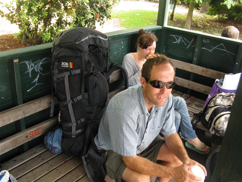 Waiting for another bus in Byron Bay...