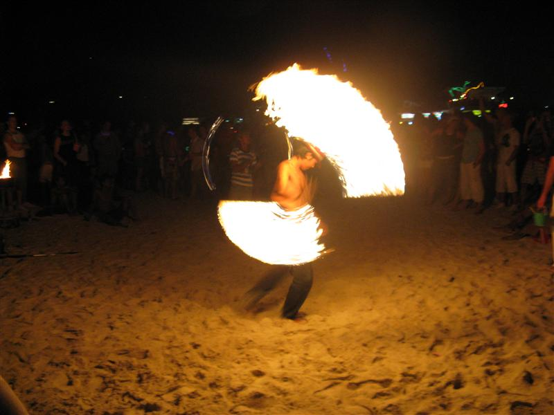 One of many fire dancers at Hat Rin for the Party