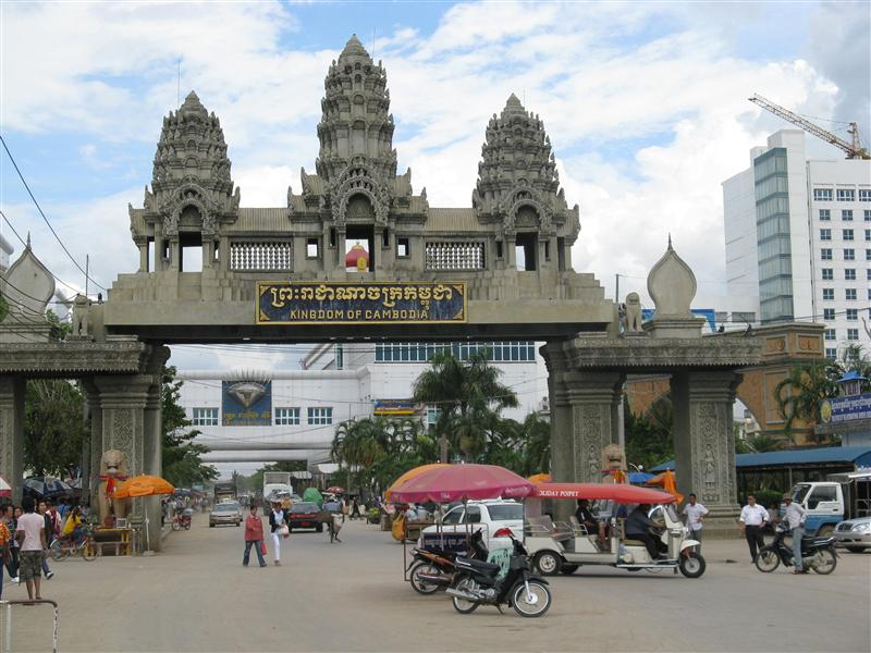 The Thailand/Cambodia border crossing