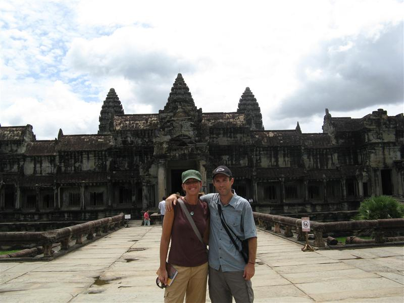 Tim and Jen in front of Angkor Wat