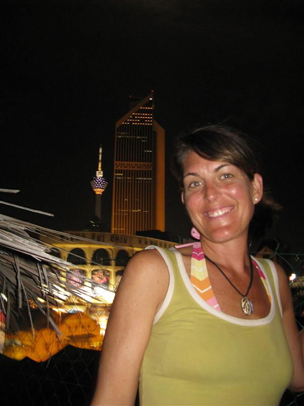 Jen outshines the tower in KL