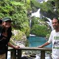Beautiful waterfall on Day 4 of the Milford Track