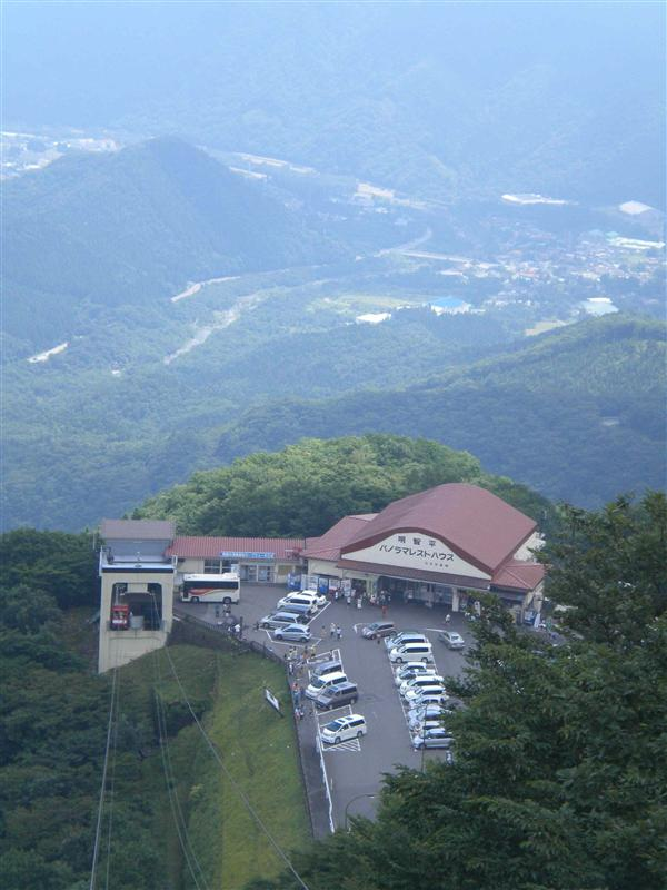 Ropeway-station from above