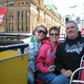 Riding the City Sight Seeing open top bus! :)