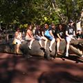 The 8 of us pre-service teachers chilling on a croc. :)