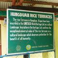 Hungduan rice terrace sign