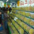 Lots of stinky Durian Fruit