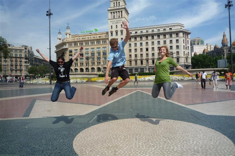 Jumping in Barcelona