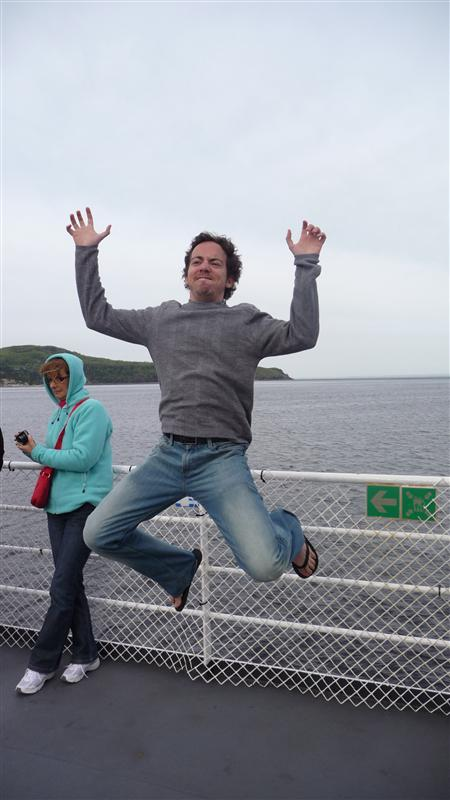 Jumping on the ferry to Tadoussac