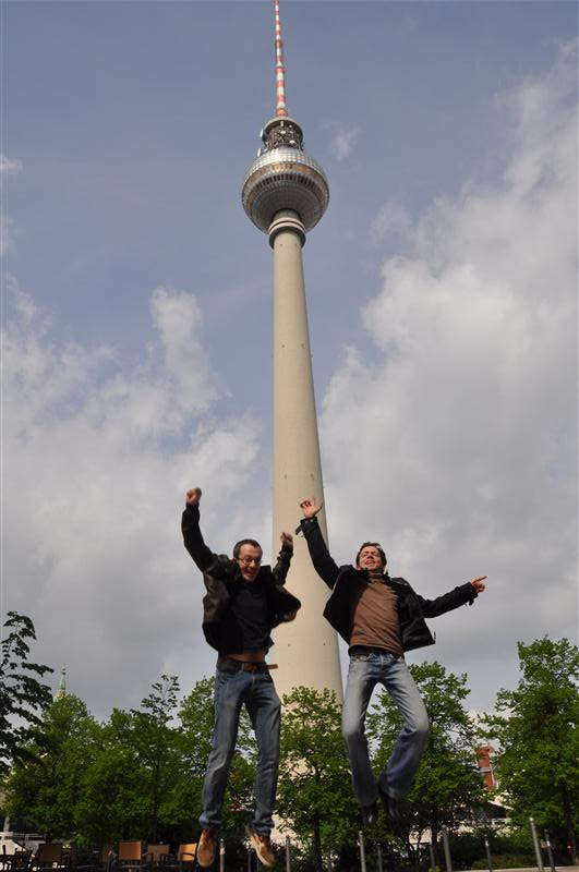 Jumping in front of the TV Tower