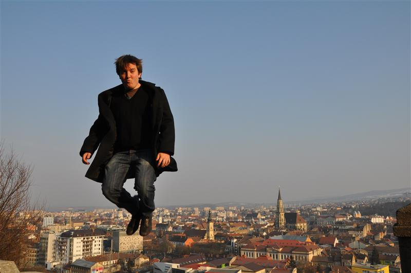 Falling, from who knows where, in Cluj Napoca