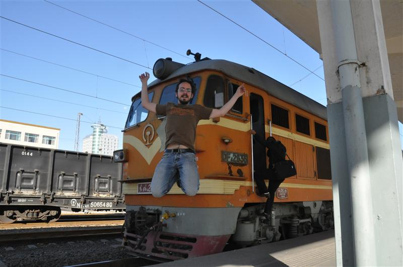Jumping in front of the Chinese locomotive