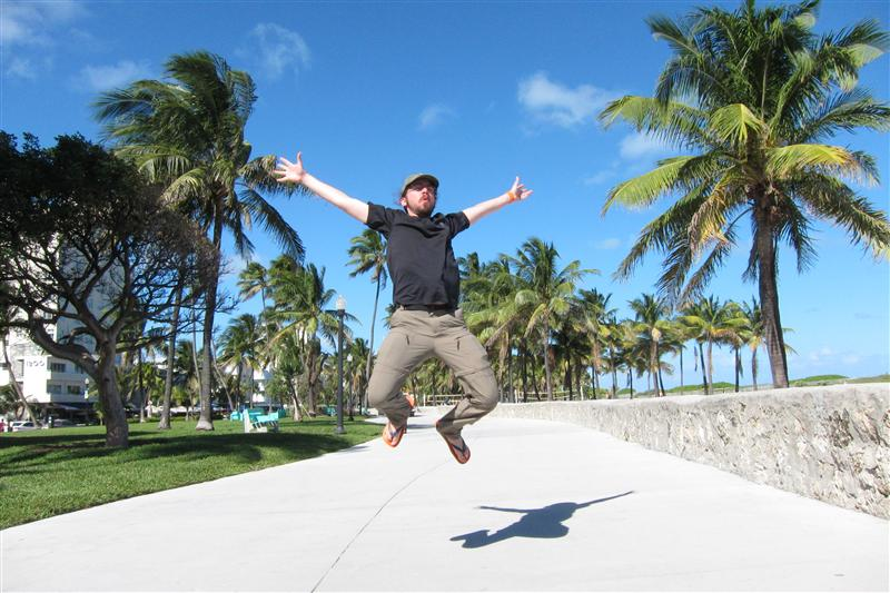 Jumping in Miami