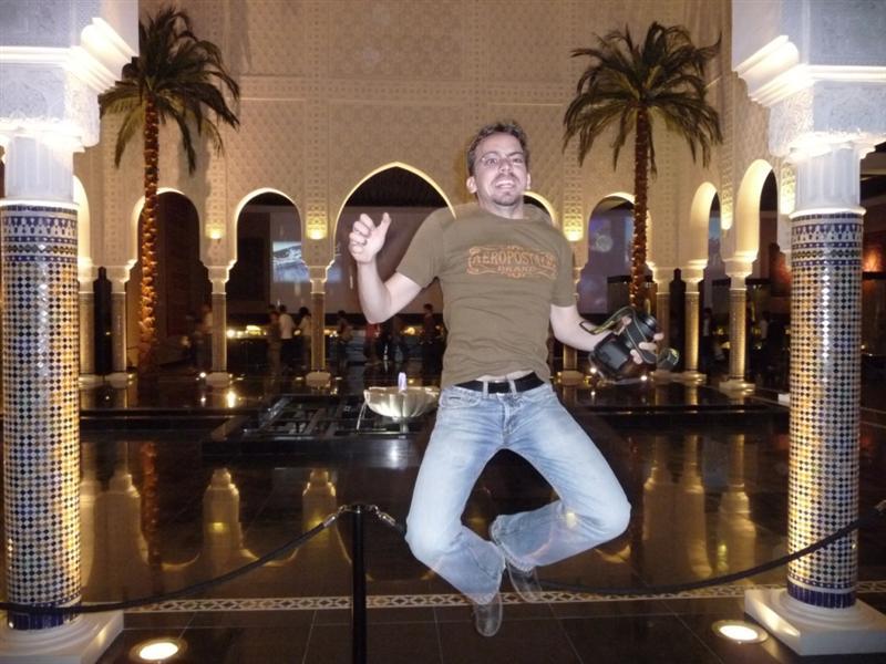 Jumping in Morocco pavillon