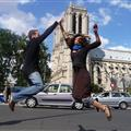 Jumping in front of Notre Dame