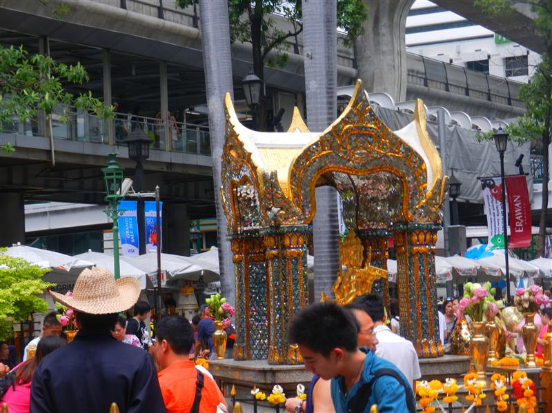 Erawan Shrine outside of the Hyatt Hotel, Bangkok