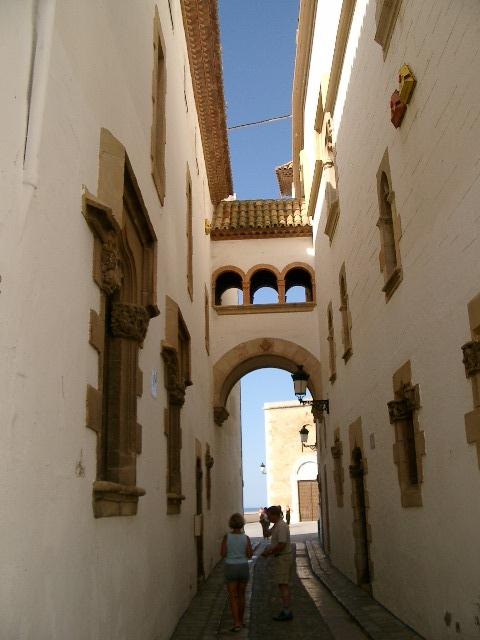 narrow street and arch
