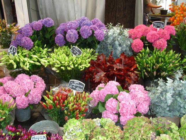 Beautiful floating flower markets