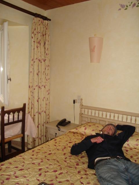 Kristian in our Avignon hotel