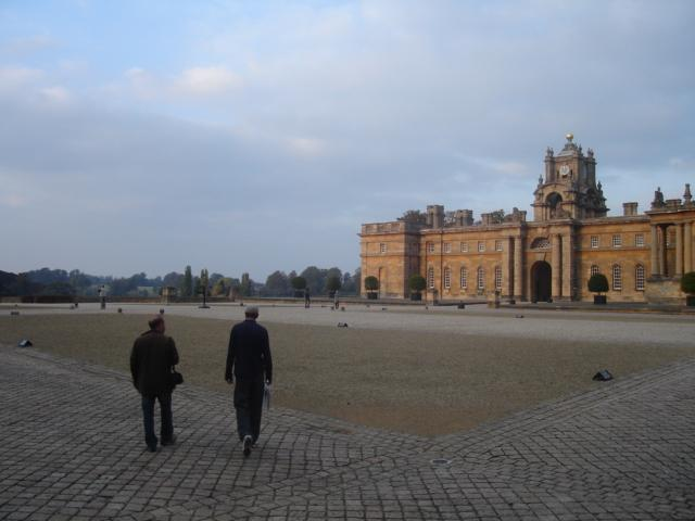 The boys approaching Blenheim Palace