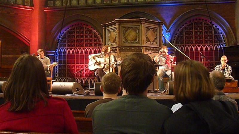Jo Mango playing at Union Chapel