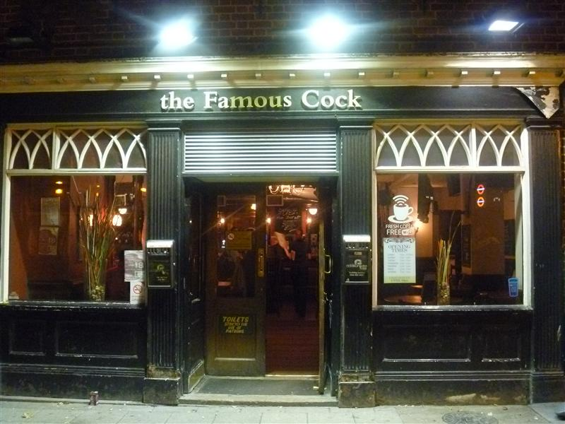 The famous cock, where Roch had a great burger, Angel &Islington